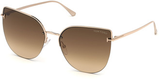 Tom Ford Ingrid Gradient Butterfly Sunglasses