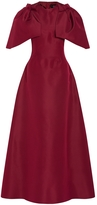 Christian Siriano Structured Silk Gown