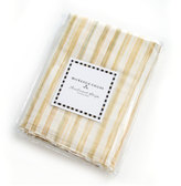 Mackenzie Childs MacKenzie-Childs Parchment Stripe Twin Dust Skirt