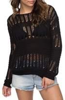 Roxy Blush Seaview Open Knit Sweater