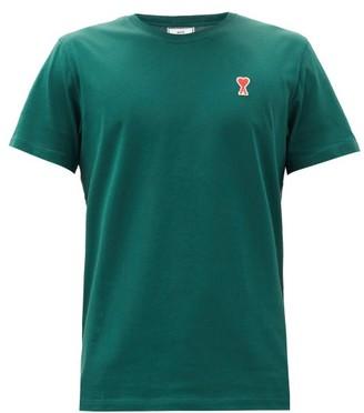 Ami De Coeur Logo-patch Cotton-jersey T-shirt - Green