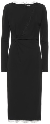 Tom Ford Lace-trimmed midi dress