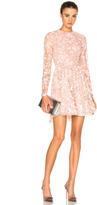 Zuhair Murad Embroidered Long Sleeve Mini Dress
