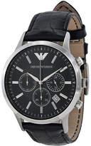 Giorgio Armani Genuine NEW Emporio Black Dial Chronograph Men's Watch - AR2447
