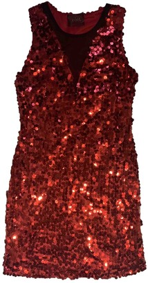 GUESS Red Glitter Dress for Women