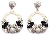 Anton Heunis Vintage stone stud Swarovski crystal hoop earrings