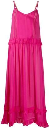 Twin-Set Ruffle-Trimmed Maxi Dress