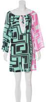 Emilio Pucci Lace-Up Printed Dress