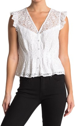 Laundry by Shelli Segal Ruffle Lace Top