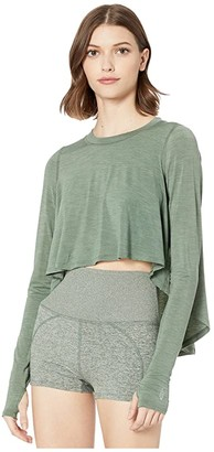 FP Movement Cadence Long Sleeve Top (Army) Women's Clothing