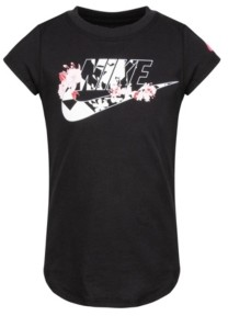 Nike Little Girls Short Sleeve Logo Graphic T-shirt