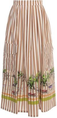 Cavallini Erika Ellis Skirt W/stripes And Print