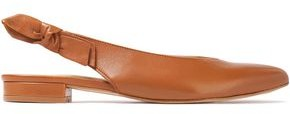 French Sole Penelope Leather Slingback Point-toe Flats