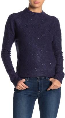 Free Press Sequin Metallic Knit Pullover Sweater