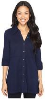 Mod-o-doc Slub Jersey Button Up Long Sleeve Shirt