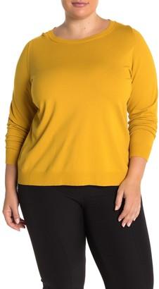 Lafayette 148 New York Crew Neck Pullover Sweater (Plus Size)