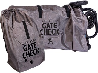 J L Childress Gate Check Car Seat & Double Stroller Bags Set