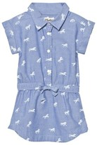 Hatley Blue Horse Print Tie Waist Dress
