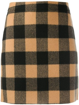 Sandro Paris Check Mini Skirt