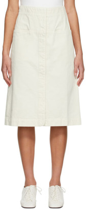 Lemaire Off-White Straight Skirt
