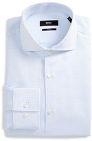 BOSS Men's Slim Fit Micro Check Dress Shirt