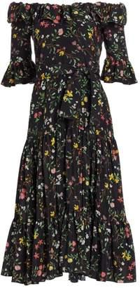 Altuzarra Helden Floral Silk Midi Dress