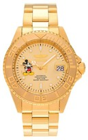 Invicta Men's 22779 Mickey Mouse Dial Link Bracelet Watch - Gold