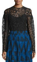 Creatures of the Wind Lace Drop-Shoulder Tunic, Black