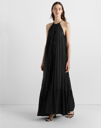 Club Monaco Burnout Pleated Maxi Dress