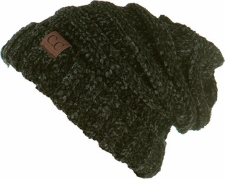 Funky Junque H-6100-85033 Oversized Slouchy Beanie - Chenille New Olive