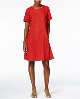 Eileen Fisher Silk Noil Shift Dress, Regular & Petite