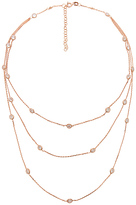 joolz by Martha Calvo Multi Bezel 3 Layer Necklace in Metallic Copper.