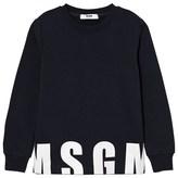 MSGM Navy Logo Sweatshirt
