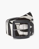 Chico's Dylan Zebra-Print Haircalf Belt