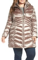 Ellen Tracy Plus Size Women's Hooded Down & Polyfill Coat