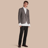 Burberry Slim Fit Herringbone Wool Tailored Jacket