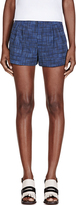 Marc Jacobs Blue Wool Cuffed Shorts