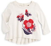 Tea Collection Rai Graphic Top (Baby Girls)