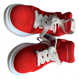 Alexander McQueen Oversize Red Cloth Trainers