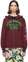 Marc Jacobs Burgundy Stray Rats Edition Zip-Up Hoodie