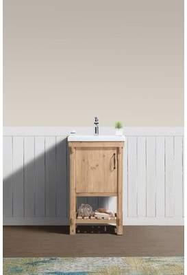 "Union Rustic Whitten 20"" Single Bathroom Vanity Set Union Rustic"