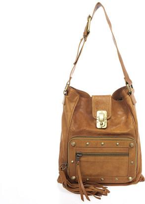 Chloé Brown Leather Tassel Hobo Bag