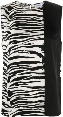 Calvin Klein Zebra Print Blouse