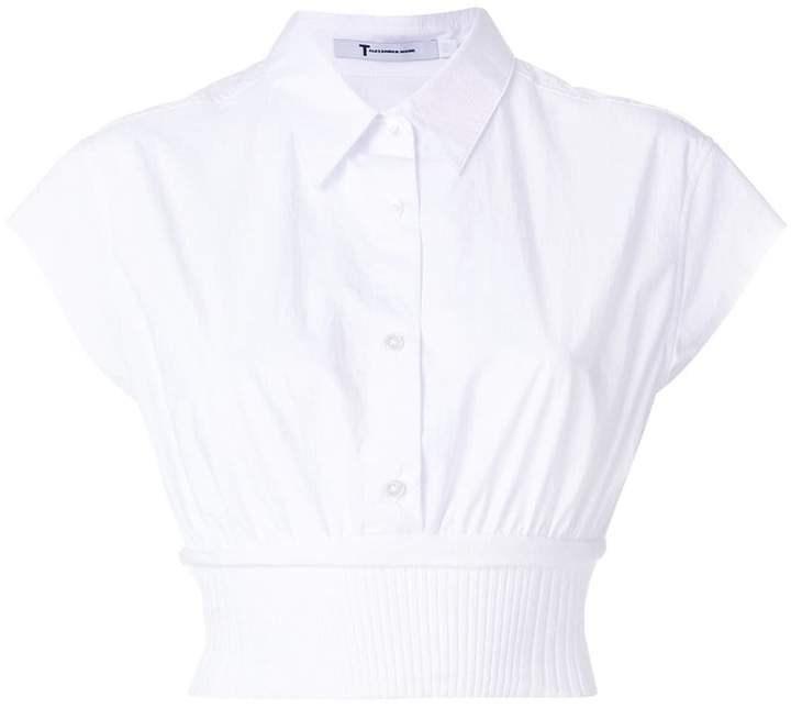 Alexander Wang cropped shirt with waistband
