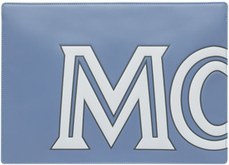 MCM Zip Pouch in Contrast Logo Leather