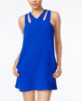 Speechless Juniors' Cutout Crepe Shift Dress