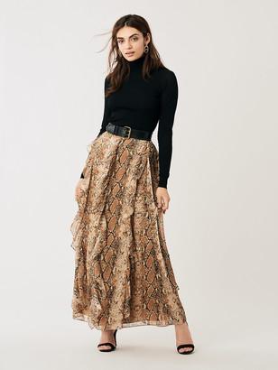 Diane von Furstenberg Salona Silk-Chiffon Wrap Maxi Skirt