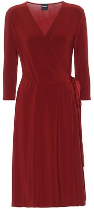 Max Mara Dida stretch-jersey wrap dress