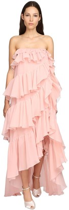 Giambattista Valli Ruffled Silk Georgette Long Dress