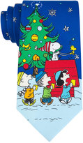 Peanuts Men's Snoopy on the Roof Tie